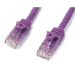 StarTech.com Cat6 patch cable with snagless RJ45 connectors – 50 ft, purple
