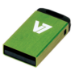 V7 Nano USB 2.0 8GB USB flash drive USB Type-A Groen