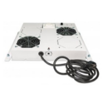 "Intellinet 2-Fan Ventilation Unit for 19"" Racks, Roof Mount, with Thermostat, Grey 712781"