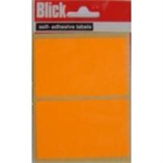 BLICK LABEL FLUO BAG 50X80MM ORG 010852