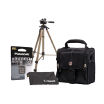 Canon Camcorder Accessory Kit - Case  32GB SD  Full Length Tripod  Lens Cloth
