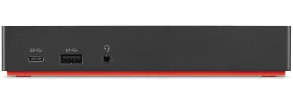 Lenovo 40AS0090EU base para portátil y replicador de puertos Alámbrico USB 3.2 Gen 1 (3.1 Gen 1) Type-C Negro