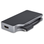 StarTech.com USB-C multiport video adapter 4-in-1 85W Power Delivery space grey