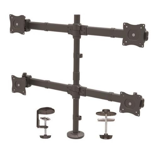StarTech.com Desk-Mount Quad-Monitor Arm - Articulating - Heavy Duty Steel
