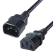 Connekt Gear 0.5M C14 to C13 Extension Male to Female Mains Power Cable Black