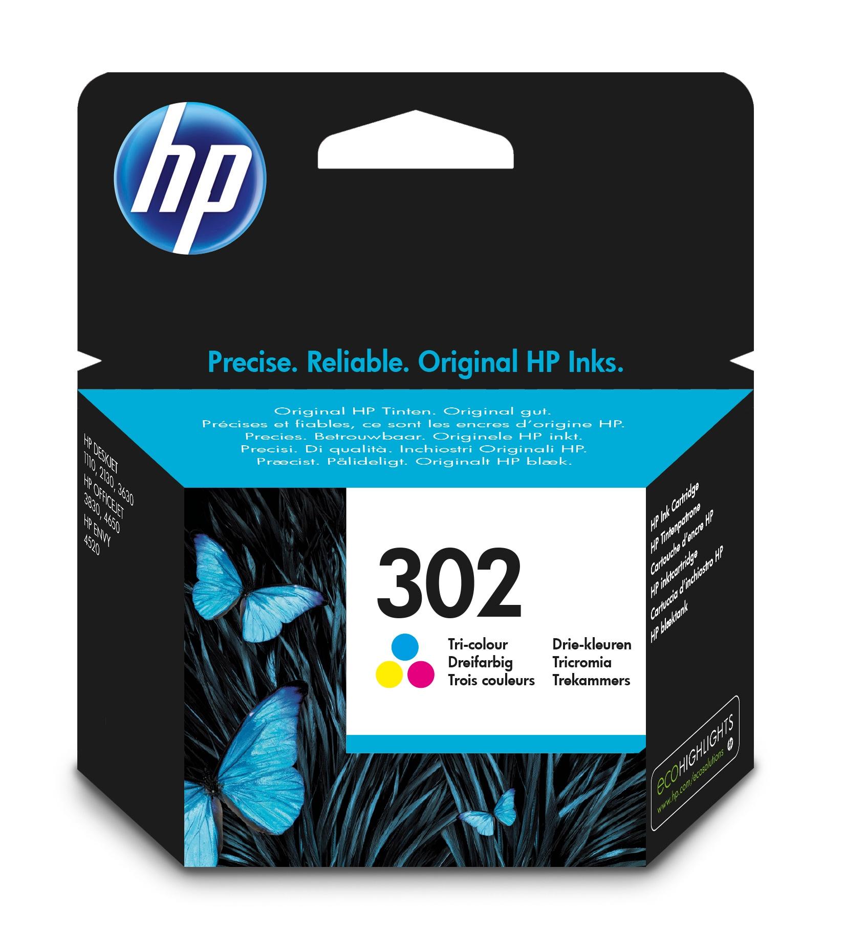 HP 302 Original Cian, Magenta, Amarillo 1 pieza(s)