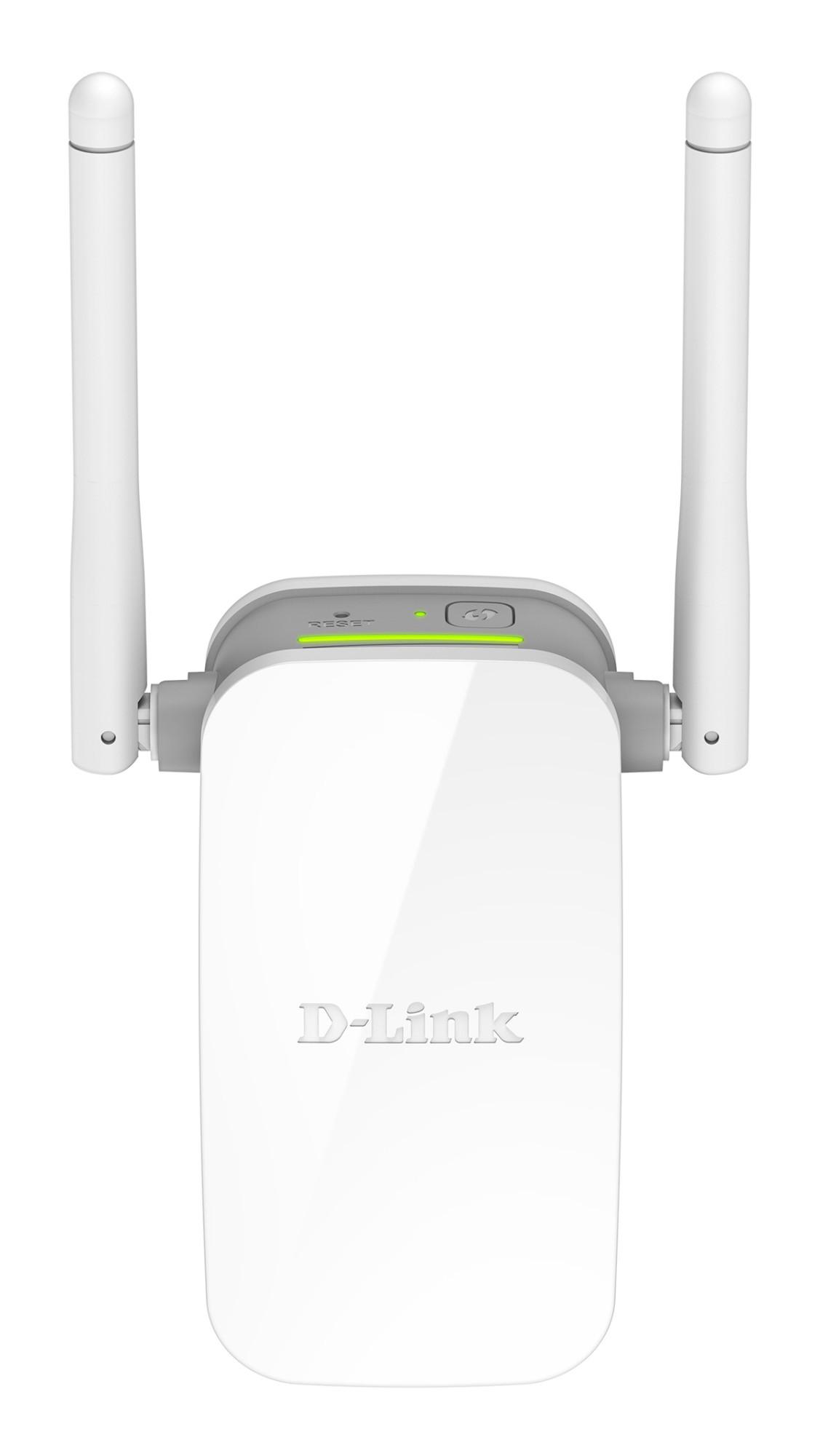 D-Link N300 Repetidor de red 10,100 Mbit/s Gris, Blanco