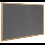 Bi-Office Earth-It Grey Felt Ntcbrd Oak Frame 120x90cm DD