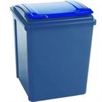 VFM RECYCLING BIN BLUE GRY/BLUE LID 50L