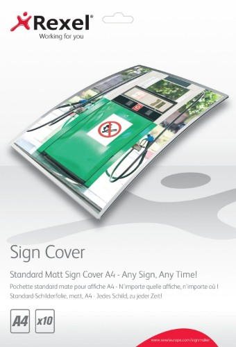 Rexel Standard Matt Sign Covers A4 (10)