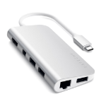Satechi ST-TCMM8PAS notebook dock/port replicator Wired USB 3.2 Gen 1 (3.1 Gen 1) Type-C Silver