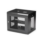"StarTech.com 2 Post 9U 19"" Wall Mount Network Cabinet - Adjustable Depth 6-15""- Locking IT Switch Depth Enclosure - Vented Computer/Electronics Equipment Data Rack w/Shelf & Hook & Loop Tape"