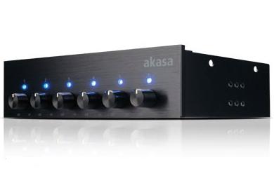 Akasa AK-FC-08BKV2 fan speed controller 6 channels Black