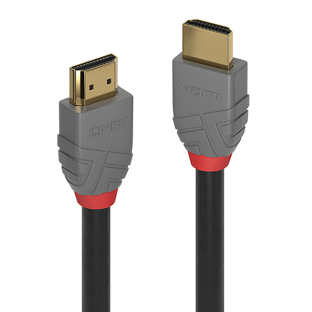 Lindy 36967 HDMI cable 10 m HDMI Type A (Standard) Black, Gray