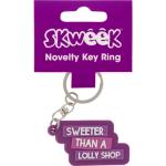 SKWEEK KEY RING SKWEEK NOVELTY RUBBER PURPLE(EACH)