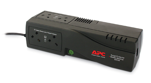 APC Back-UPS 325, UK uninterruptible power supply (UPS) 325 VA 185 W 4 AC outlet(s)