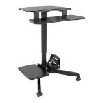 Tripp Lite WWSSRDSTC Rolling Desk TV/Monitor Cart - Height Adjustable
