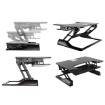 Newstar Sit-Stand Desktop Workstation - Black