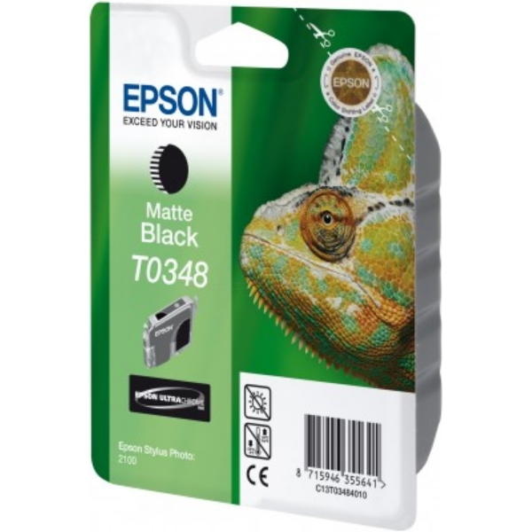 Epson C13T03484020 (T0348) Ink cartridge black matt, 440 pages, 17ml