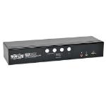 Tripp Lite 4-Port DVI Dual-Link / USB KVM Switch w/ Audio and Cables