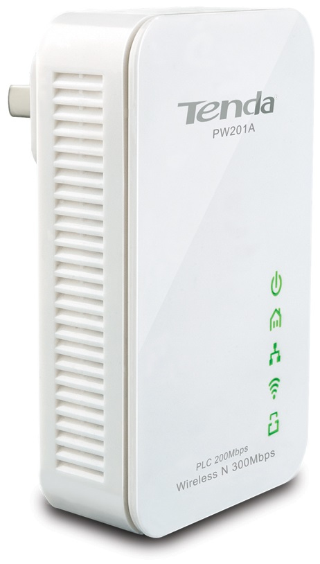 Tenda PW201A 300Mbit/s Ethernet LAN Wi-Fi White 1pc(s) PowerLine network adapter