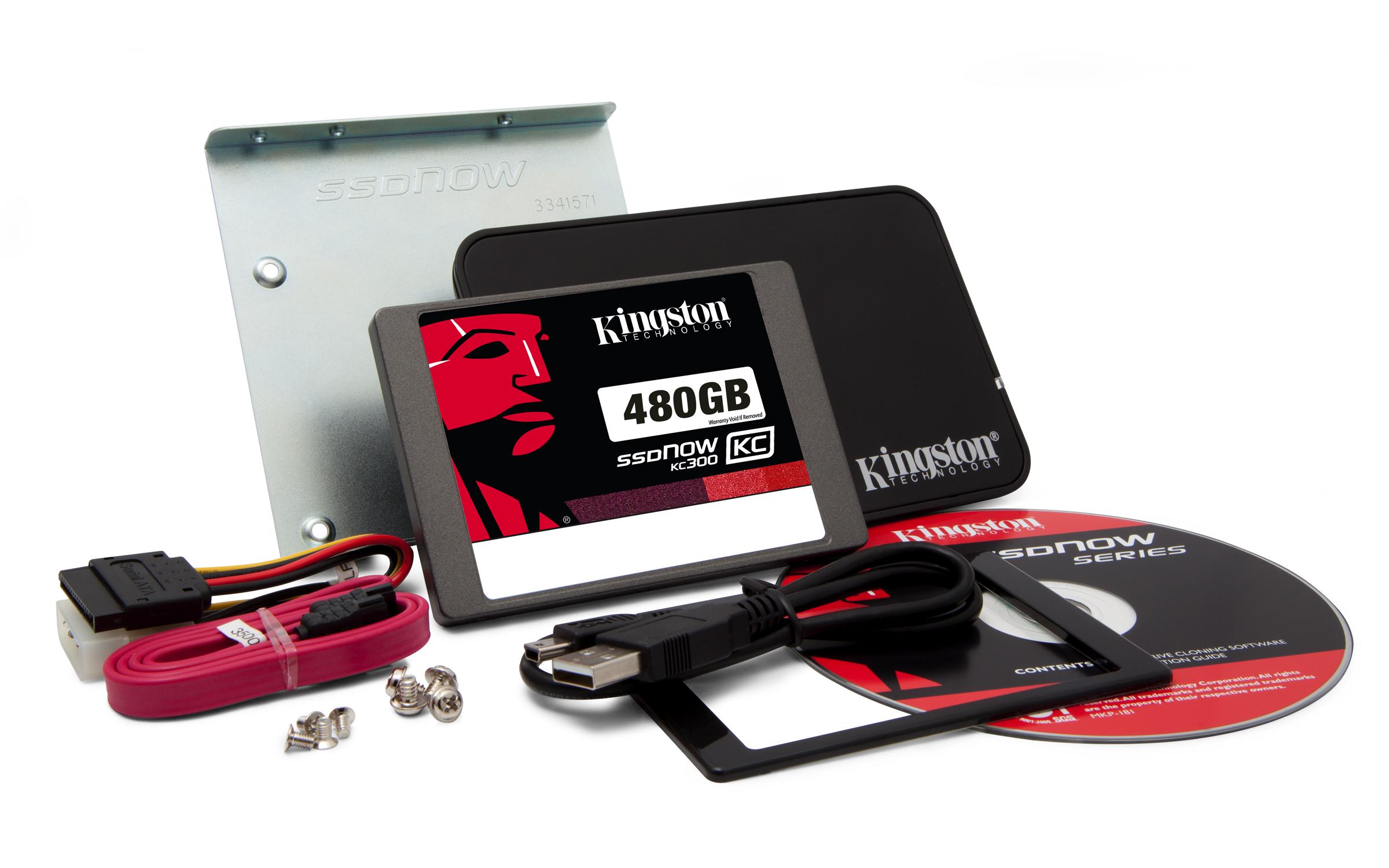Kingston Technology 480GB SSDNow KC300 Upgrade bundle kit