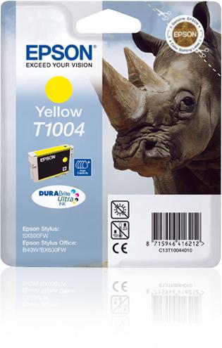Epson Rhino inktpatroon Yellow T1004 DURABrite Ultra Ink