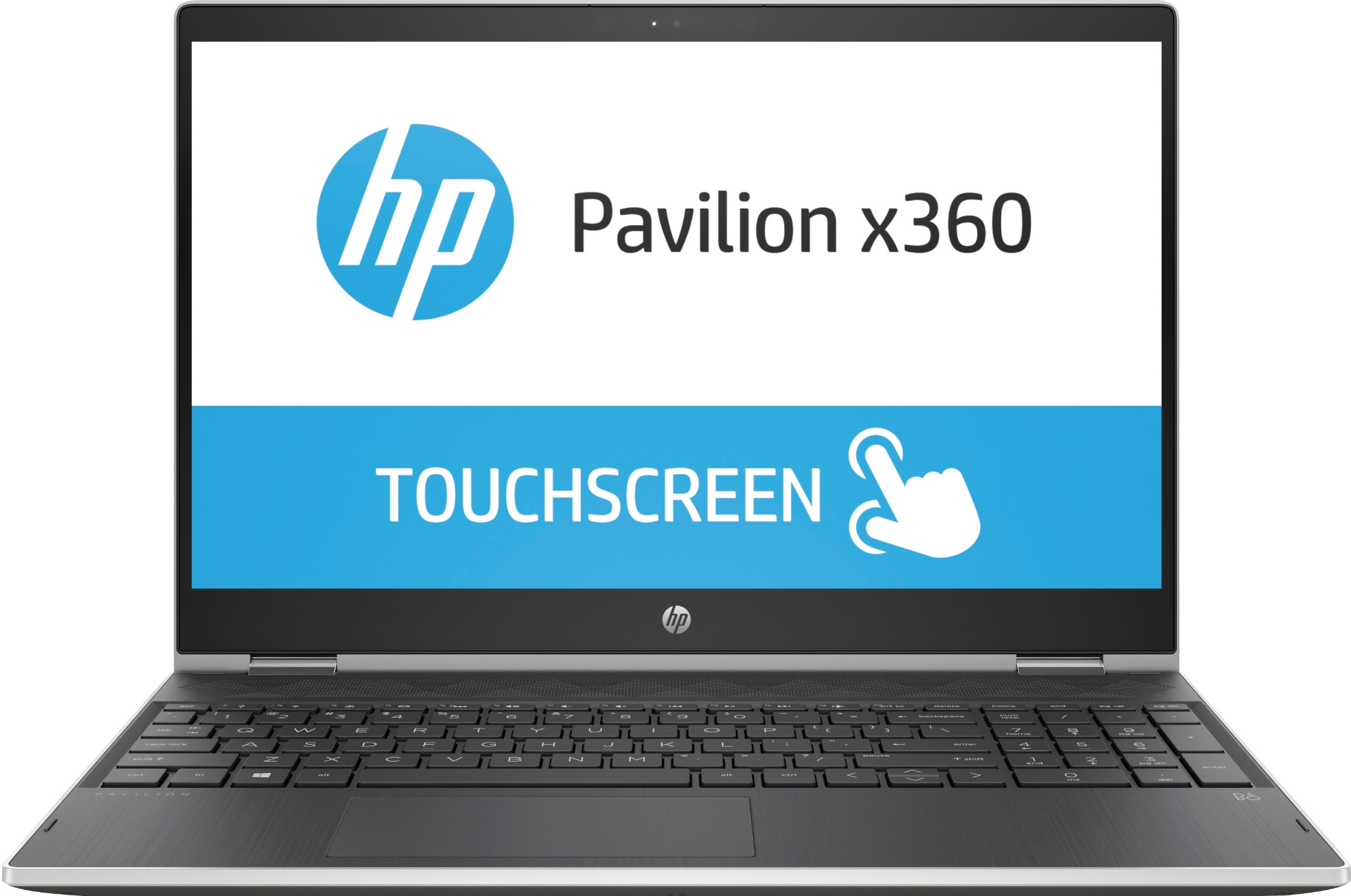 "HP Pavilion x360 15-cr0003na Silver Hybrid (2-in-1) 39.6 cm (15.6"") 1920 x 1080 pixels Touchscreen 2.2 GHz 8th gen Intel® Core™ i3 i3-8130U"