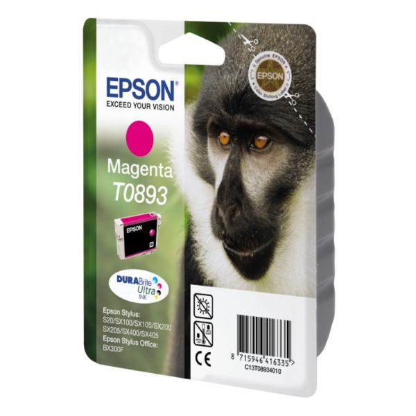 Epson C13T08934011 (T0893) Ink cartridge magenta, 135 pages, 4ml