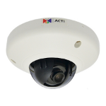 ACTi E93 IP security camera Indoor Dome White security camera