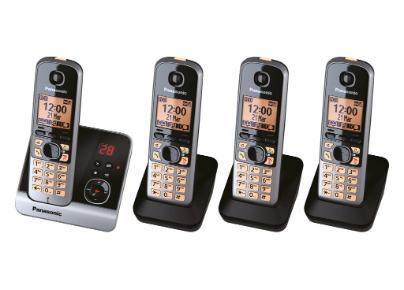 Panasonic KX-TG6724 DECT telephone Black Caller ID