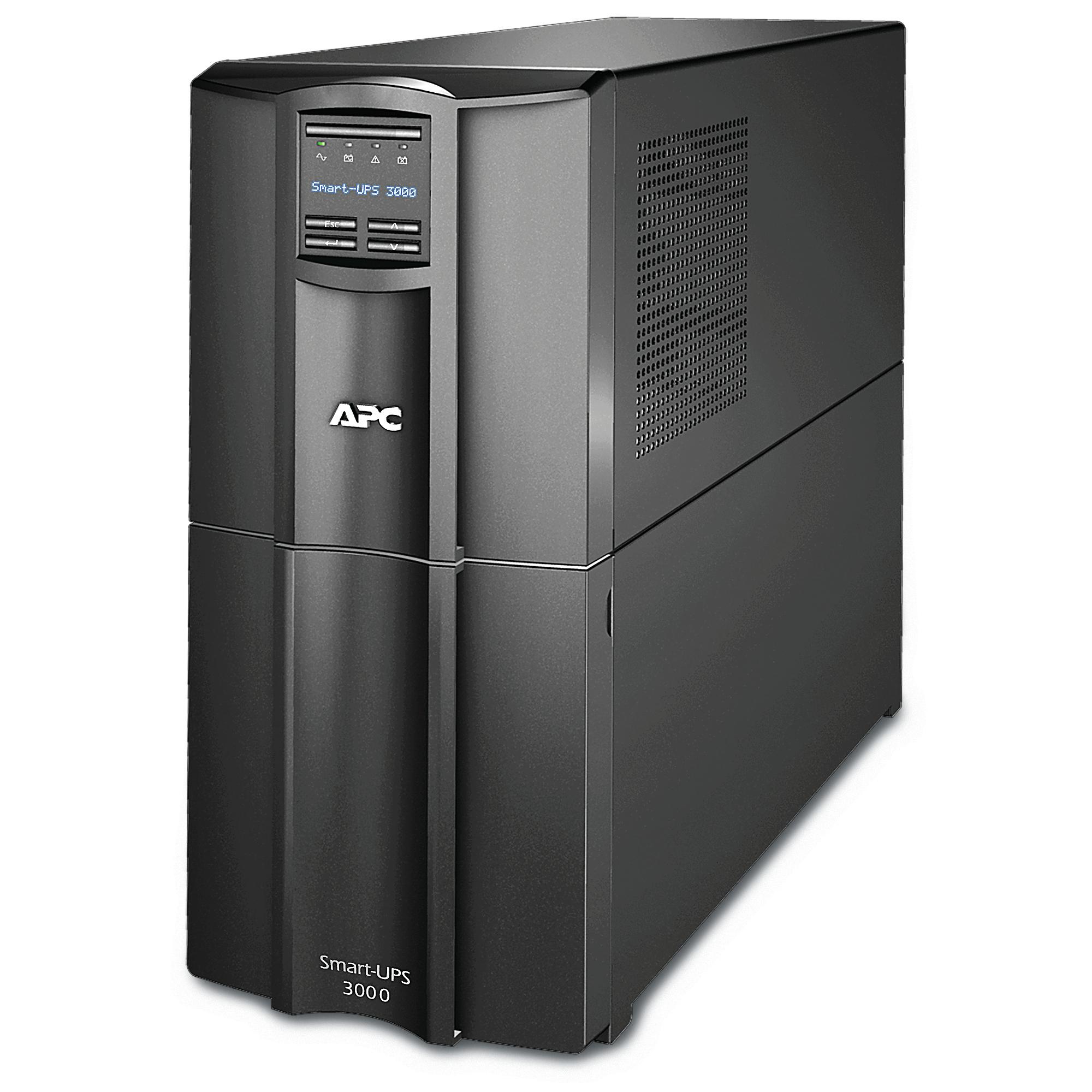 APC SMART-UPS 3000VA LCD 230V WITH SMARTCONNECT Unterbrechungsfreie Stromversorgung UPS Line-Interaktiv 2700 W 9 AC-Ausgänge