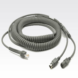 Zebra Keyboard Wedge Cable CBA-K08-C20PAR KVM cable 6 m Grey