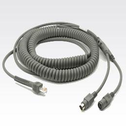 Zebra Keyboard Wedge Cable CBA-K08-C20PAR KVM cable 6 m Grey