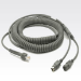 Zebra Keyboard Wedge Cable CBA-K08-C20PAR cable para video, teclado y ratón (kvm) 6 m Gris