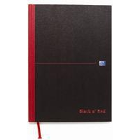 Black n' Red Book Casebound 90gsm Ruled 384pp A4 Ref 100080473