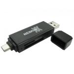Cables Direct NEWlink card reader Black USB 3.2 Gen 1 (3.1 Gen 1) Type-A/Type-C