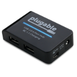 Plugable Technologies USB2-HUB4BC interface hub 480 Mbit/s Black