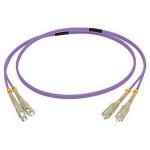 C2G 1M SC/SC OM4 LSZH FIBRE PATCH - VIOLET fibre optic cable