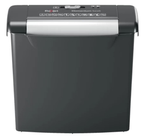 Rexel S206 paper shredder Strip shredding 22 cm Black, Silver