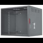 "Intellinet 19"" Secure Wallmount Cabinet, 9U, 450mm depth, Assembled, Black"