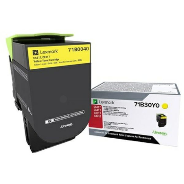 Lexmark 71B0040 Toner yellow, 2.3K pages