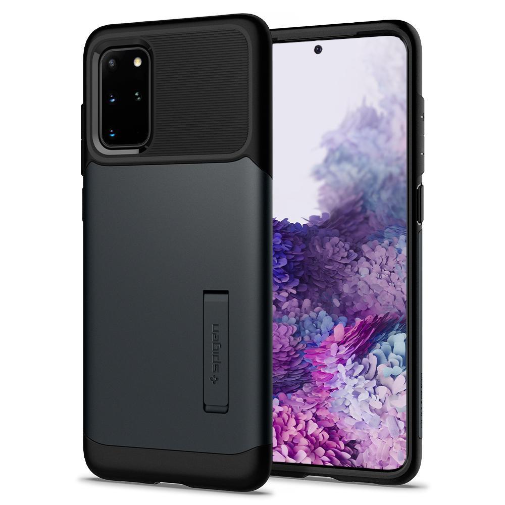 """Spigen Slim Armor mobiele telefoon behuizingen 17 cm (6.7"""") Hoes Zwart, Metallic"""