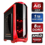 TARGET Kolink AMD A6 3.1GHz Dual Core 8GB RAM 1TB Hard Drive Gigabyte RX460 2GB OC Graphics Card Prebuilt S