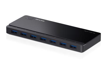 TP-LINK UH700 hub de interfaz 5000 Mbit/s Negro