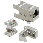 AMP 1711343-1 RJ-45 Grey wire connector