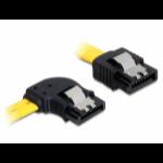 DeLOCK 0.3m SATA M/M SATA cable Yellow