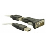 DeLOCK USB 2.0 to Serial Adapter USB A RS-232 Black cable interface/gender adapter