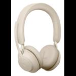 Jabra Evolve2 65, MS Stereo Headset Head-band Beige