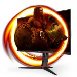 """AOC 24G2SU/BK computer monitor 60.5 cm (23.8"""") 1920 x 1080 pixels Full HD Black, Red"""